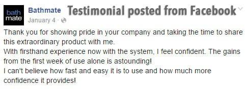Bathmate User Testimonial
