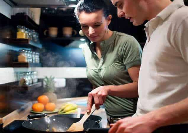 Cook And Eat Healthy Foods Together