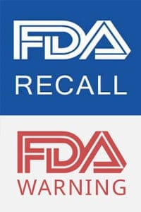 FDA Recalls Warnings and Public Notifications