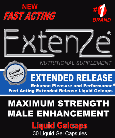 New Fast-Acting Extenze Maximum Strength in Liquid GelCaps