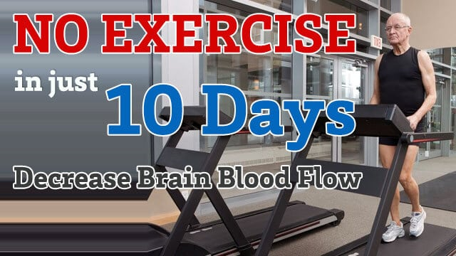 No Exercise For 10 Days Decreases Blood Flow To The Brain