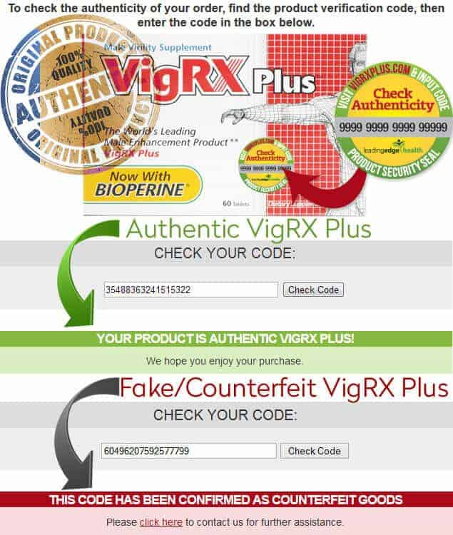 VigRX Plus Online Authenticity Check